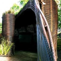 a garden shed that is also garden sculpture