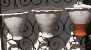 Wall Planters Ceramic - three in a row