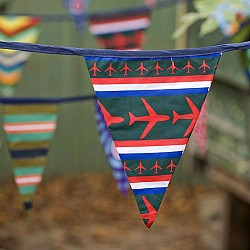 bunting with planes