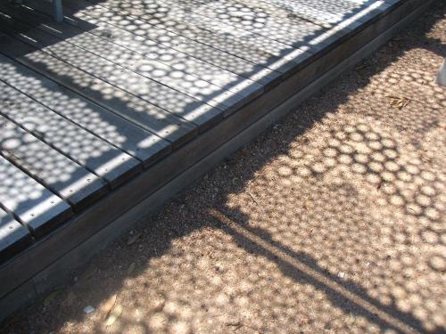 garden metal art shadow