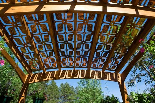 metal shade art with patterns