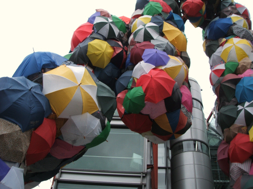 colour with umbrellas