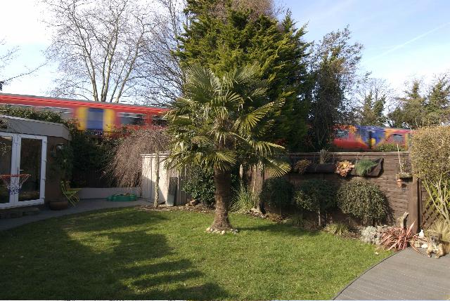 gardden art as a train