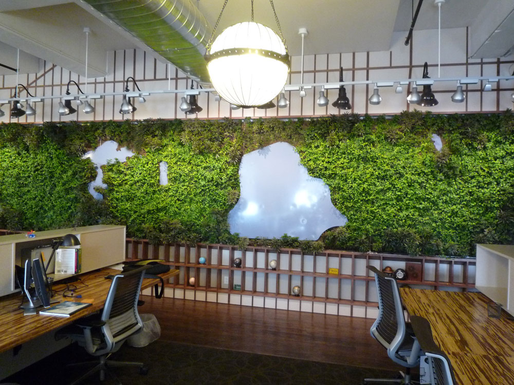 Indoor Green Wall Art With Maps