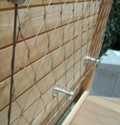green wall trellis made from stainless steel