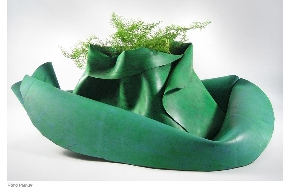 indoor planter in green
