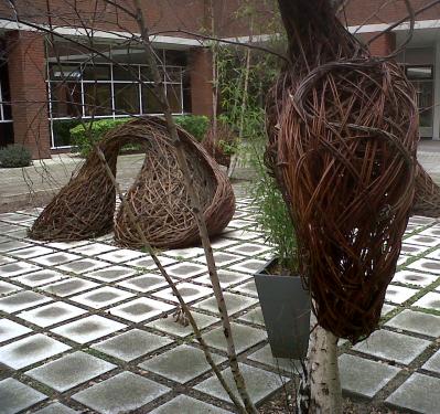 garden art weaved willow