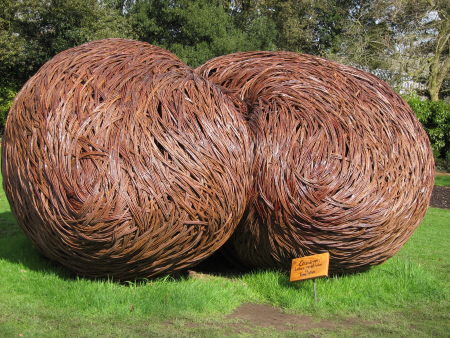 willow sculpture in a garden