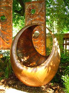 hanging moon garden chair