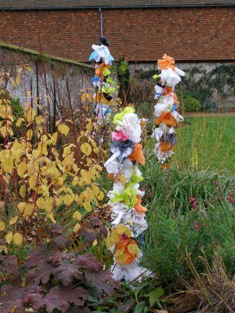 plastic garden art in a church