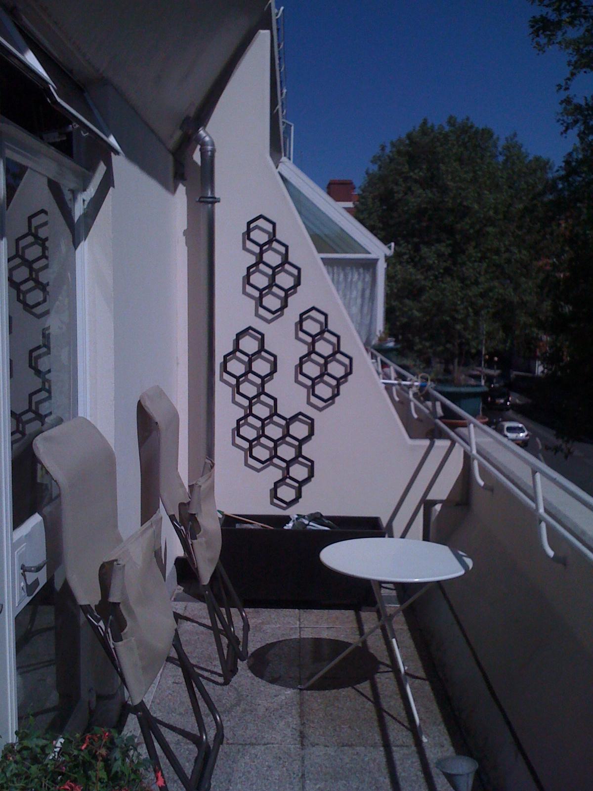 garden wall with art