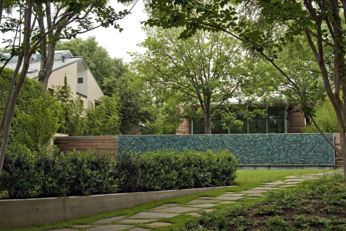 garden wall art made with glass