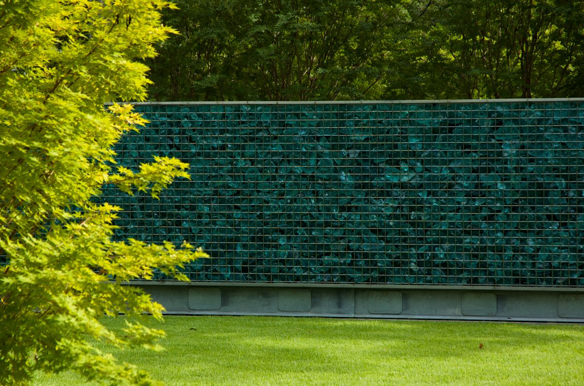 wall as art in the garden